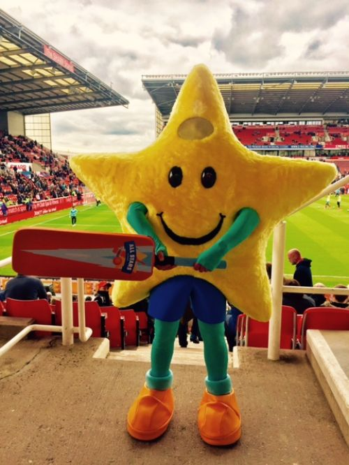 Twinkle visits Stoke City